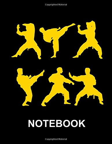 Notebook. For Karate Martial Arts Fans. Blank Lined Notebook Planner Journal Diary.