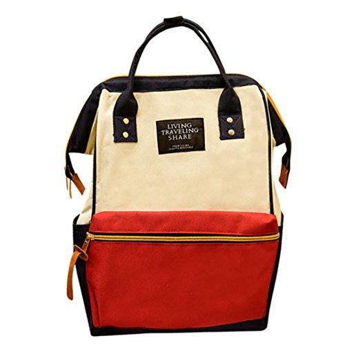 Super niedriger Preis UFACE Reiner Rucksack Unisex Solide Rucksack Schule Reisetasche Doppel Umhängetasche Reißverschlusstasche (Mehrfarbig)