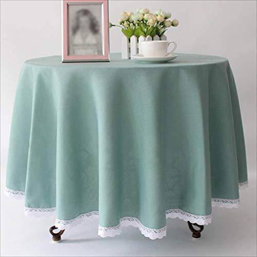 (TABLECLOTH Runde Hotel-Normallack-Tischdecke, Kaffee-Tabellen-Bankett-Tischdecke-Western-Restaurant-Konferenz-Picknick-Tischdecke (Farbe : Blau, größe : 120cm))