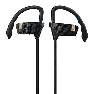 L-Fine L3 Wireless Bluetooth Headphones Sport Earbuds Sweatproof Running In-ear Headsets Stereo with Mic Bass Noise Cancelling V4.1 Earhook Earphone with Mac (black)