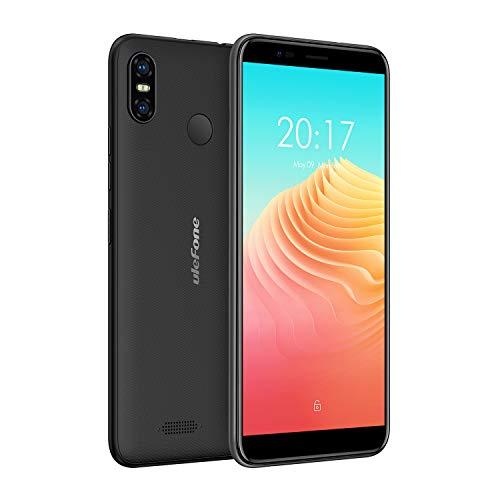 Ulefone S9 Pro - Smartphone Barato Libre 4G Sin Contrato Android 8.1, Portátil, Pantallla Super Grande de 5.5 Pulgadas, 2GB + 16GB, Doble Tarjetas de SIM, Desbloqueo Facial y de Huellas Digitales, Batería de 3300mAh (negro)