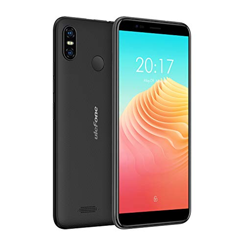 Ulefone S9 Pro 4G Smartphone ohne Vertrag Günstig (5,5 Zoll Androird 8.1 2GB RAM + 16GB ROM, 13MP+8MP Dual Kamera, Dual SIM Handy, Face ID Fingerabdruck) Schwarz -