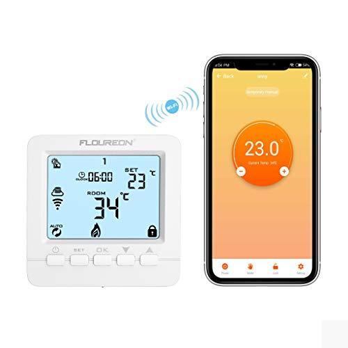 WiFi Thermostat Heizung Smart digital Raumthermostat programmierbar heizkörperthermostat Wandthermostat Heizungsthermostat für elektrische Fußbodenheizung Fernbedienung via Smartphone APP 230V