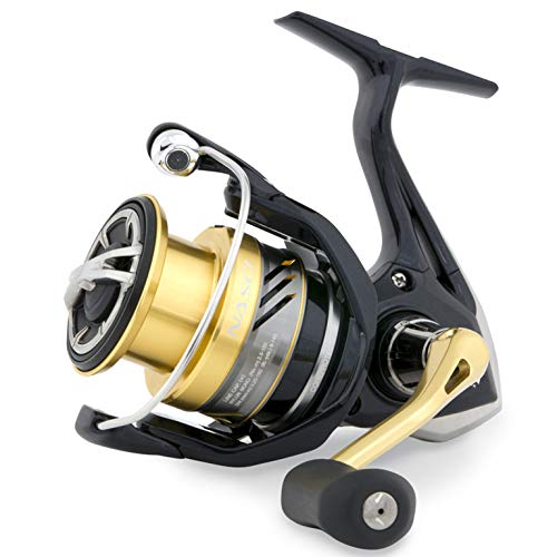 Shimano Nasci C5000 XG FB, Spinning Angelrolle mit Frontbremse, NASC5000XGFB (Damen Tackle Box)