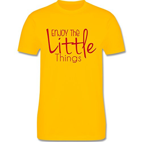 Statement Shirts - Enjoy The Little Things - Herren Premium T-Shirt Gelb