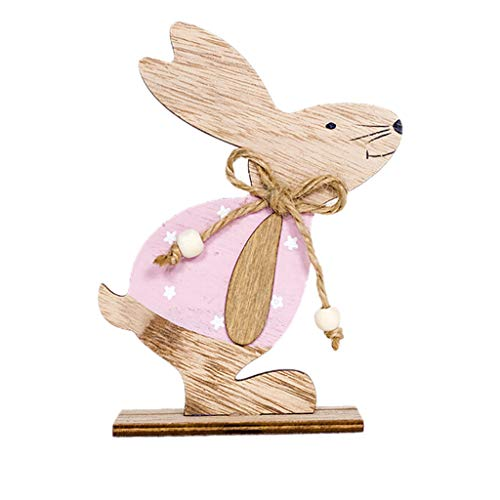 Portafoglio  Clodo  Decorazioni di Pasqua Confezioni di Conigli in Legno (A)