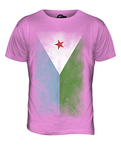 CandyMix Dschibuti Verblichen Flagge Herren T Shirt Rosa