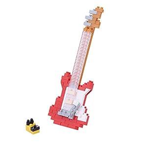 Nanoblock-Juego de construcción de Guitarra eléctrica (Rojo)