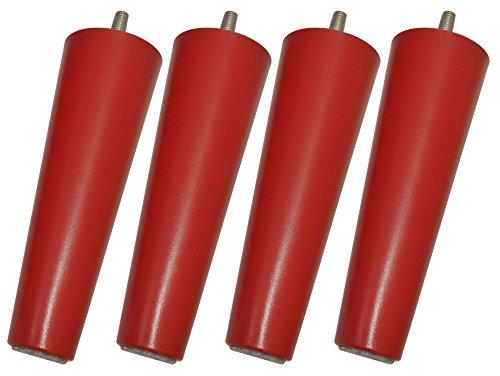 Ersatzbeine von Legheads für Möbel von IKEA, für IKEA-Hacks geeignet, M8, 5 Farben, hervorragende Qualität, zum Anheben von Sofas, Bettgestellen und anderen Möbeln, Daredevil Red, M8 - 8mm