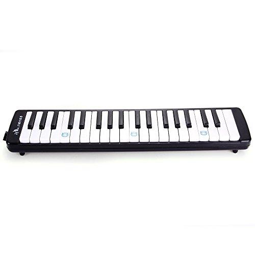 Swan Student Melodica 37 Tasten Melodika Blasinstrument in schwarzer Tasche
