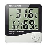 #2: Efinito Digital LCD Clock with Calendar , Temperature Sensor , Alarm for table and Study Desk