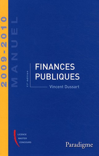Finances publiques 2009-2010