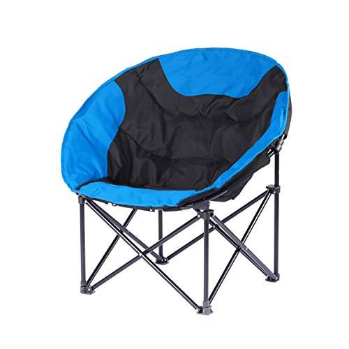 FH Chaise Pliante, Forte Portative Chaise De Plage Portable Pêche Tabouret De Pêche Chaise De Camping Barbecue 50 × 50 × 80 Cm, Sélection Multicolore (Couleur : Bleu)