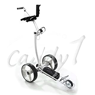 Design-Elektro-Golf-Trolley CADDYONE 700 Silber mit Lithium-Akku