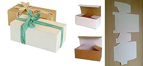 25x Selbstmontage Geschenk-Boxen (# A) perfekt für Geschenk Präsentation für Toilettenartikel, Schokolade, Kuchen, Kekse, trockenen Lebensmitteln, Keramik, Süßigkeiten (Craft Geschenkboxen)