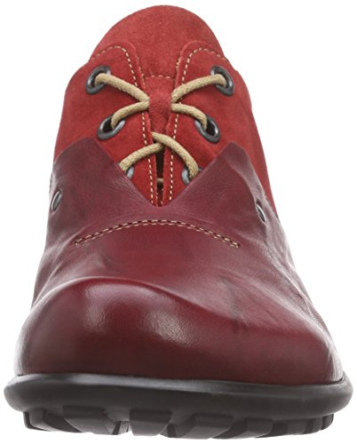 Think! Kong Schnürhalbschuh, Derby homme Rouge - Rot (ROSSO/KOMBI 72)