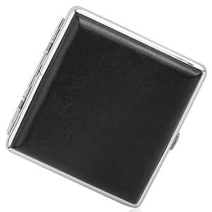 Porta sigarette pacchetto tascabile nero in metallo cuoio - Porta pacchetto sigarette amazon ...