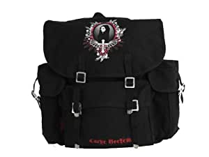"Longtime-Gothic coffin bag Canvas Armee-Rucksack ""Carpe Noctem"" groß"