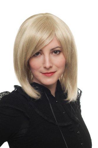 WIG ME UP Perücke blond Bob Seitenscheitel toupiert 1215-22 30cm - Glänzendes Blond