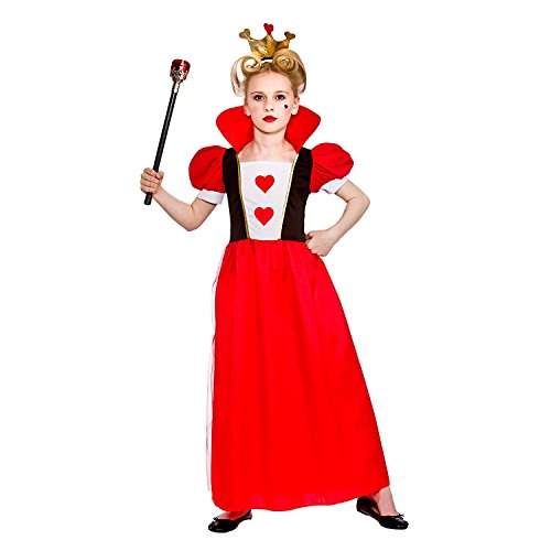 Girls Storybook Queen Fancy Dress Up Party Costume Halloween Child Outfit Hearts