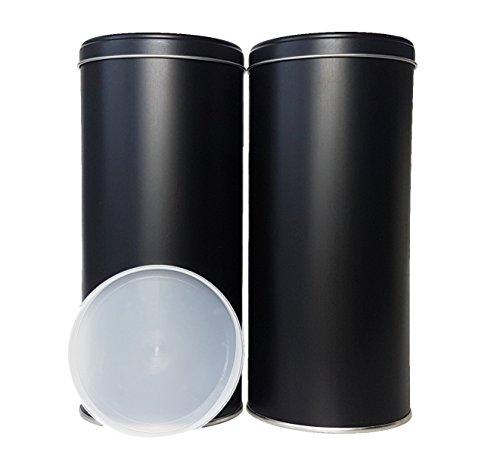 Vorratsdosen für 1KG Kaffeebohnen, Tee, Kakao Luftdichter Verschluss inkl. Etiketten 500-1000g Pro...