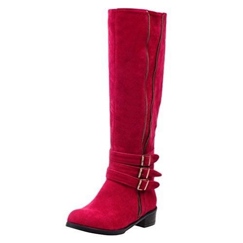 3986e875d Anguang Women's Shoes Knee High Boots Flat Heel Long Boot Autumn Winter.