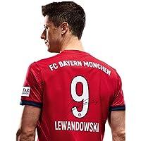 FC Bayern München Trikot Home Kinder, Rückennummer mit Unterschriften Flock, Jersey 18/19