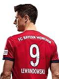 FC Bayern München Trikot Home Kinder, Lewandowski, Rückennummer Unterschriften Flock, Jersey 18/19 Größe 152