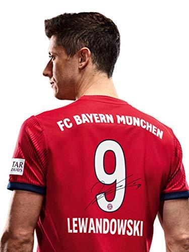 FC Bayern München Trikot Home Kinder, Lewandowski, Rückennummer Unterschriften Flock, Jersey 18/19 Größe 176
