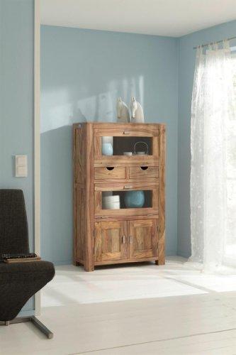 YOGA 6507 Brotschrank, Holz, 40 x 90 x 150 cm, natur