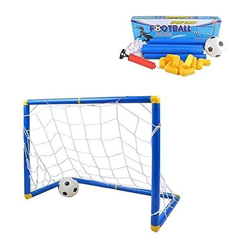 Kidcia - Jeu de But de Foot avec Ballon de Foot et Pompe à Air Cage de Foot pour les Enfants Jeux de Plein Air et Sport Set d'EntraInement de Foot - Petit