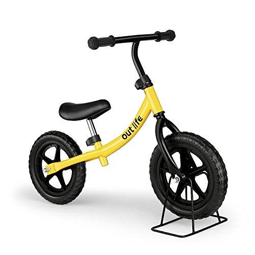 outlife Draisienne Vélo Enfant Vélo d'apprentissage sans Pédale Guidon et Siège Réglables pour 2-6 Ans