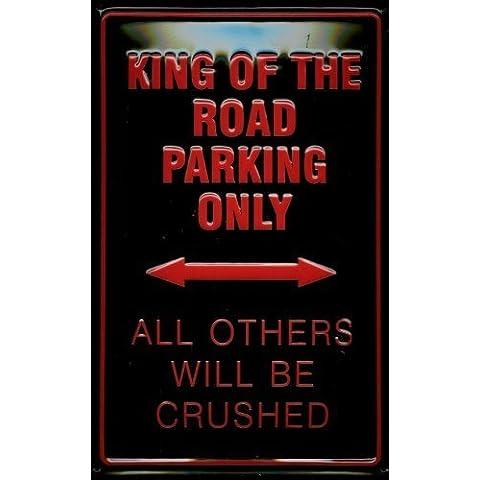 King of the Road Targa latta Tin Sign visiera metallo 20 x 30 cm