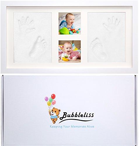 BABY HANDABDRUCK UND FUSSABDRUCK KIT von Bubbleliss. Sicher und Einfach Zu Verwenden. Ein Tolles Babygeschenk