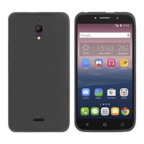 TBOC® Schwarz Gel TPU Hülle für Alcatel Pixi 4 (6) 3G (6.0 Zoll) Ultradünn Flexibel Silikonhülle [Nicht Compatible mit 4G]