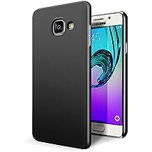 Funda Samsung Galaxy A3 2016, SLEO PC Back Cover de Parachoques Duro Cubierta Protectora para Samsung Galaxy A3 2016 - Negro