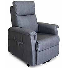 c1493ba45f Poltrona relax elettrica per anziani e disabili 2 motori OKIN alza persona  reclinabile in microfibra (