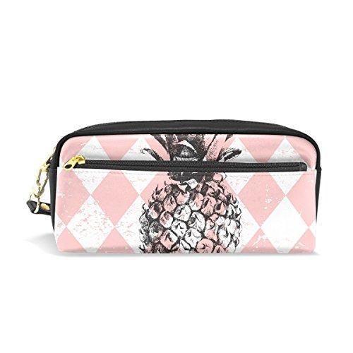 Isaoa matita borsa per studente grande capacità zipper Stationery Supplies sacchetto per ragazza e ragazzo grande capacità rosa ananas creativo di matita