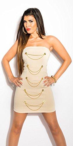 In-Stylefashion - Robe - Femme Marron Marron Taille unique Ecru - Champagne