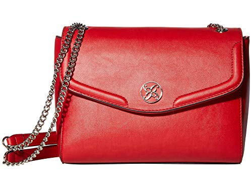 Nine West Keanu Shoulder Bag Dark Lipstick Red One Size -