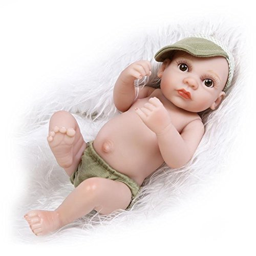nicery-reborn-baby-doll-hard-simulation-silicone-vinyl-10inch-26cm-waterproof-bathe-toy-gift-green-s