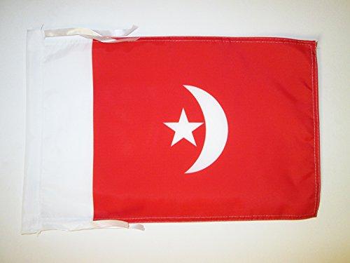 BANDIERA UMM AL-QAYWAYN 45x30cm - BANDIERINA EMIRATI ARABI UNITI 30 x 45 cm cordicelle - AZ FLAG