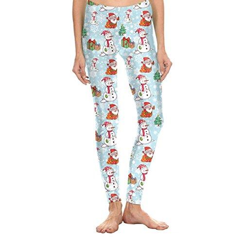 Print hässliche Weihnachten hohe Taille Stretchy Leggings Strumpfhosen Pattern#5 XL=(US L) (Halloween Zumba)