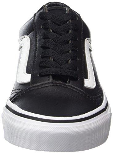 Vans Old Skool Leather, Baskets Mixte Adulte Noir (Classic Tumble/ Black/true White)