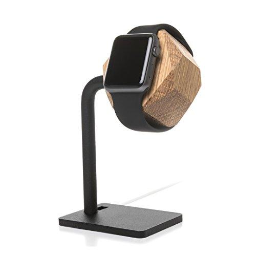 Woodcessories - kompatibel mit AppleWatch 1,2,3,4 aus FSC-Holz - EcoDock Watch (Eiche)