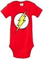 Body pour bébé l'éclair rouge - DC Comics - Flash Logo - LŽhomme le plus rapide sur Terre - The Fastest Man Alive - Gigoteuse - rouge - Design original sous licence - LOGOSHIRT