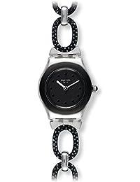 Swatch Unisex Erwachsene Armbanduhr Analog Quarz Edelstahl YSS293G
