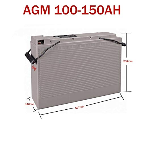 PlusEnergy Solar-Akku 12 V, tiefes Zyklus, AGM 150 Ah, 250 Ah, Gel, 150 Ah, 250 Ah, Solarlampe, Fotovoltaik mit Klemmen