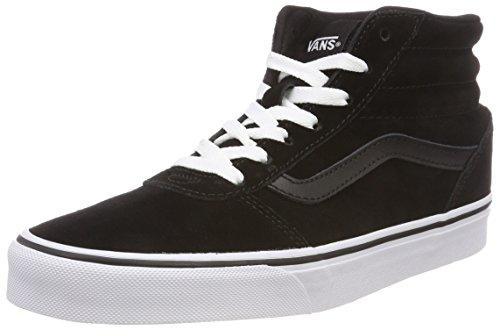 Vans Damen Ward HI Hohe Sneaker, Schwarz ((Suede) Black/White 0xt), 39 EU