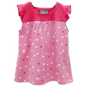 Little Green Radicals organic Fairtrade cotton, Polka Dot Sleeveless Sundress (Sorbet Pink, 3-4 Years)